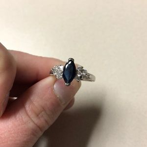 Blue and White Sapphire Zales Ring